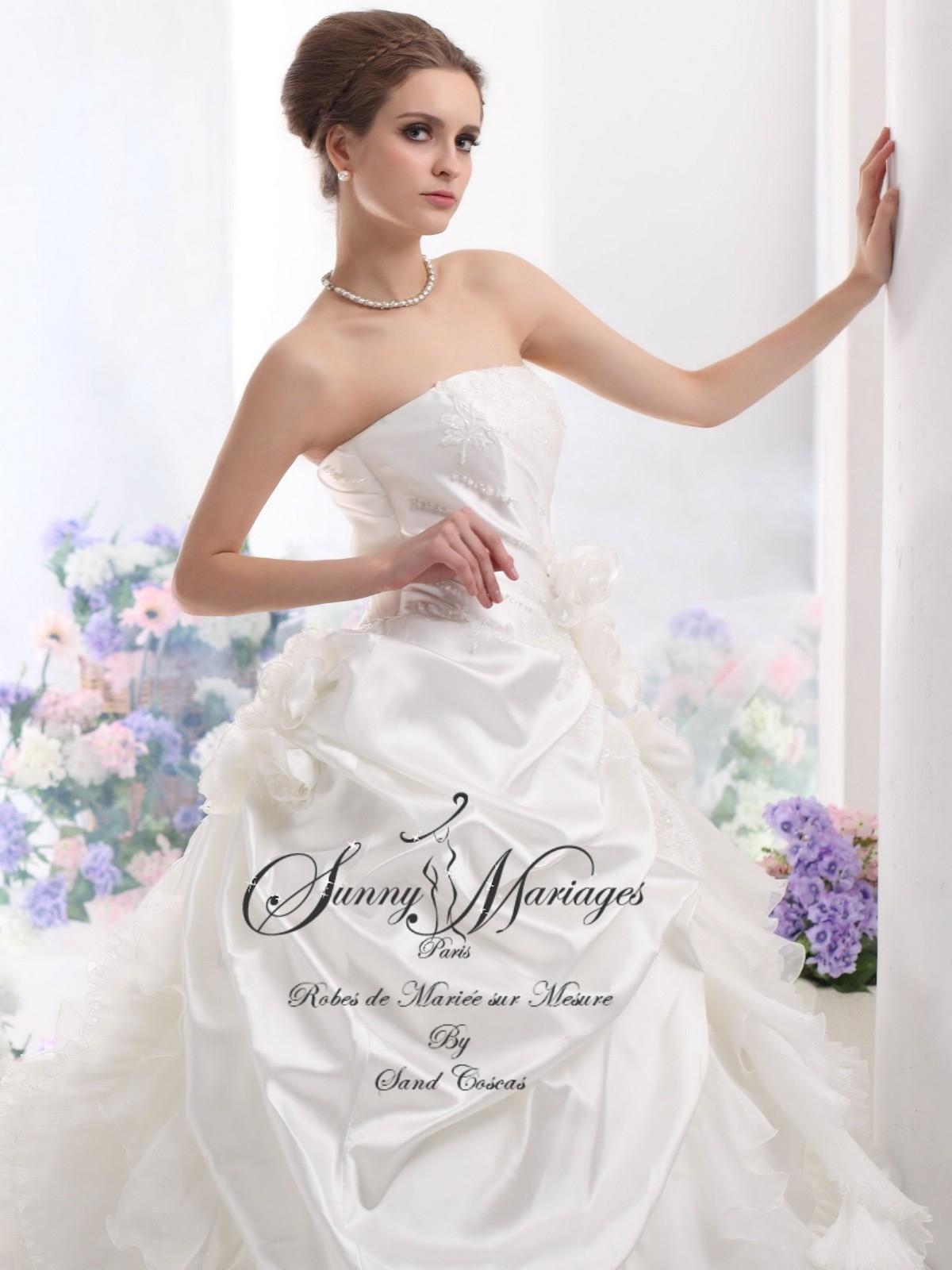 robes de mariee sur mesure grandes taille coupe princesse Sunny ...