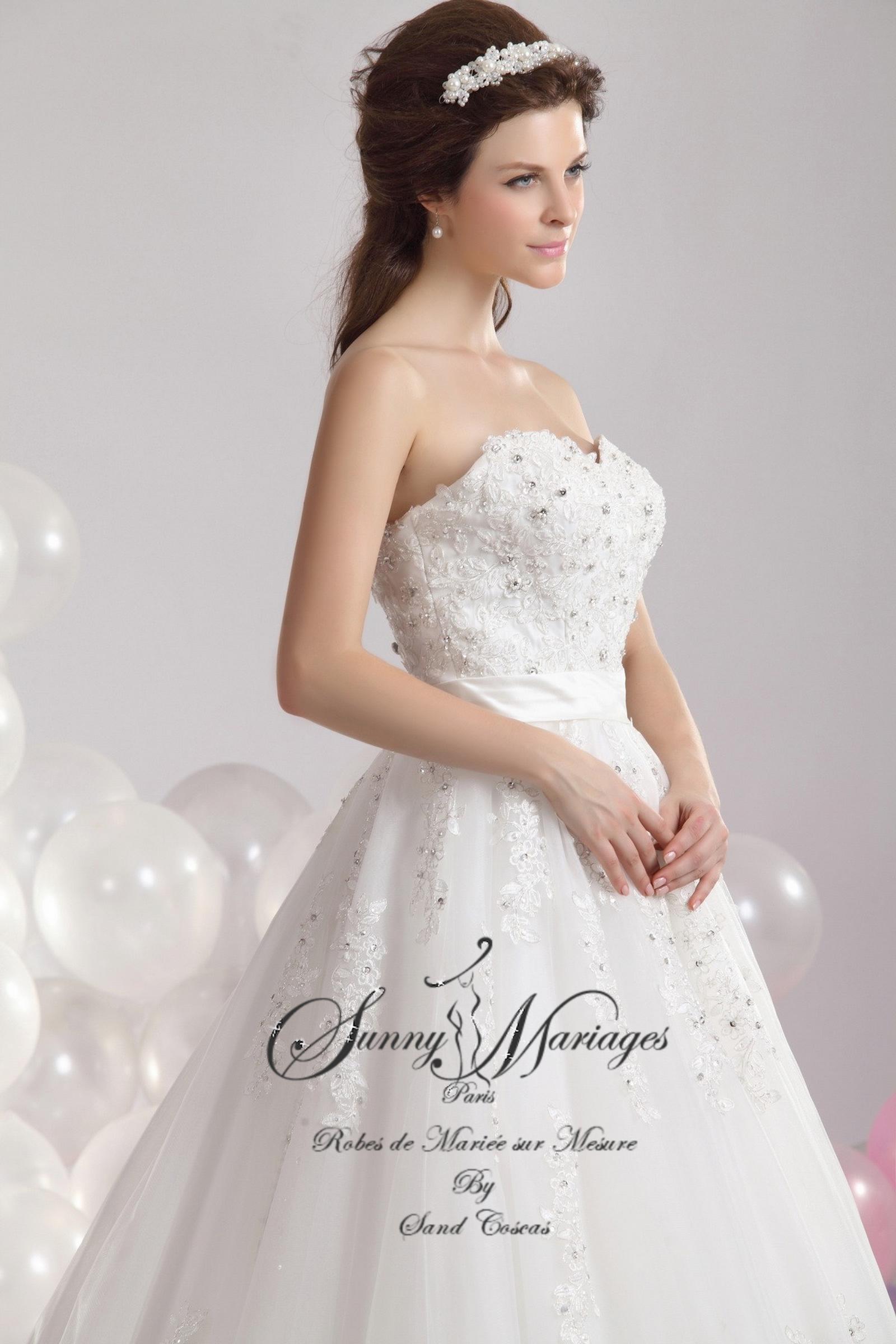 creatrice robes de mariee princesse dentelle et perles sur mesure ...