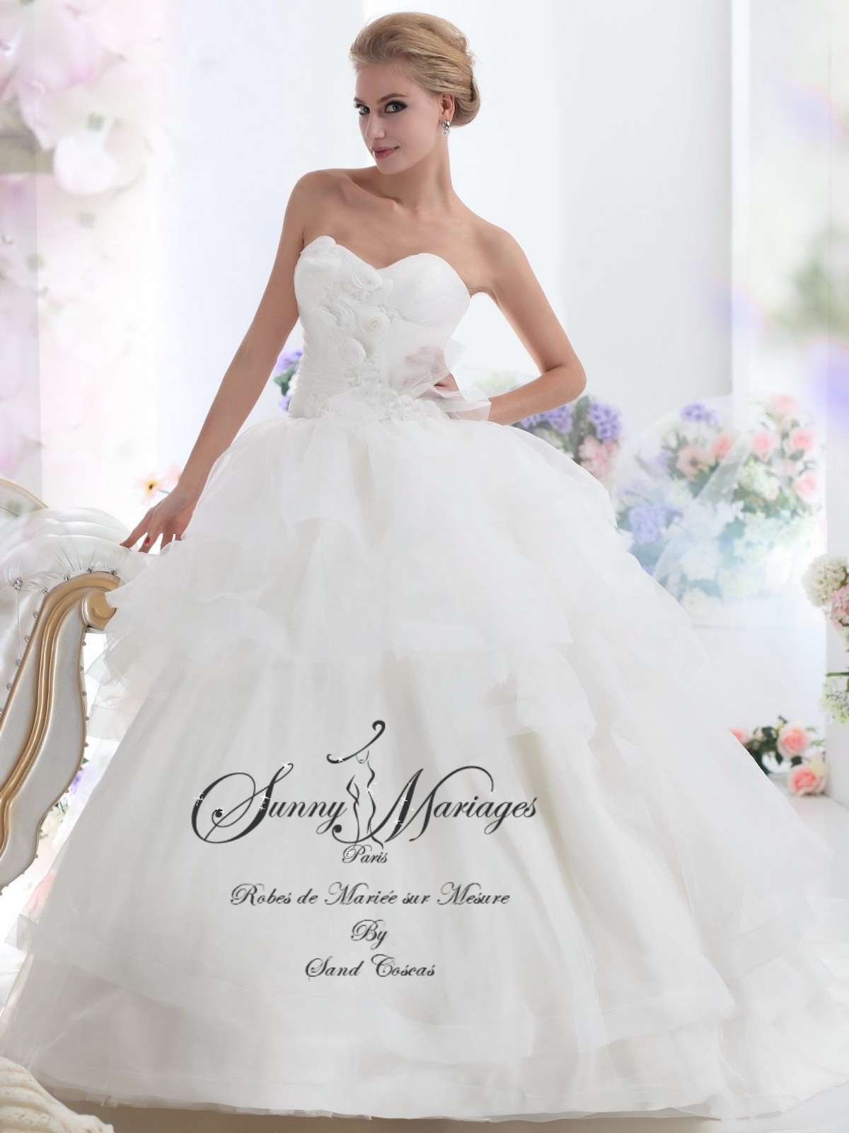robes de mariée bustier sur mesure Sunny Mariages Paris  Sunny ...