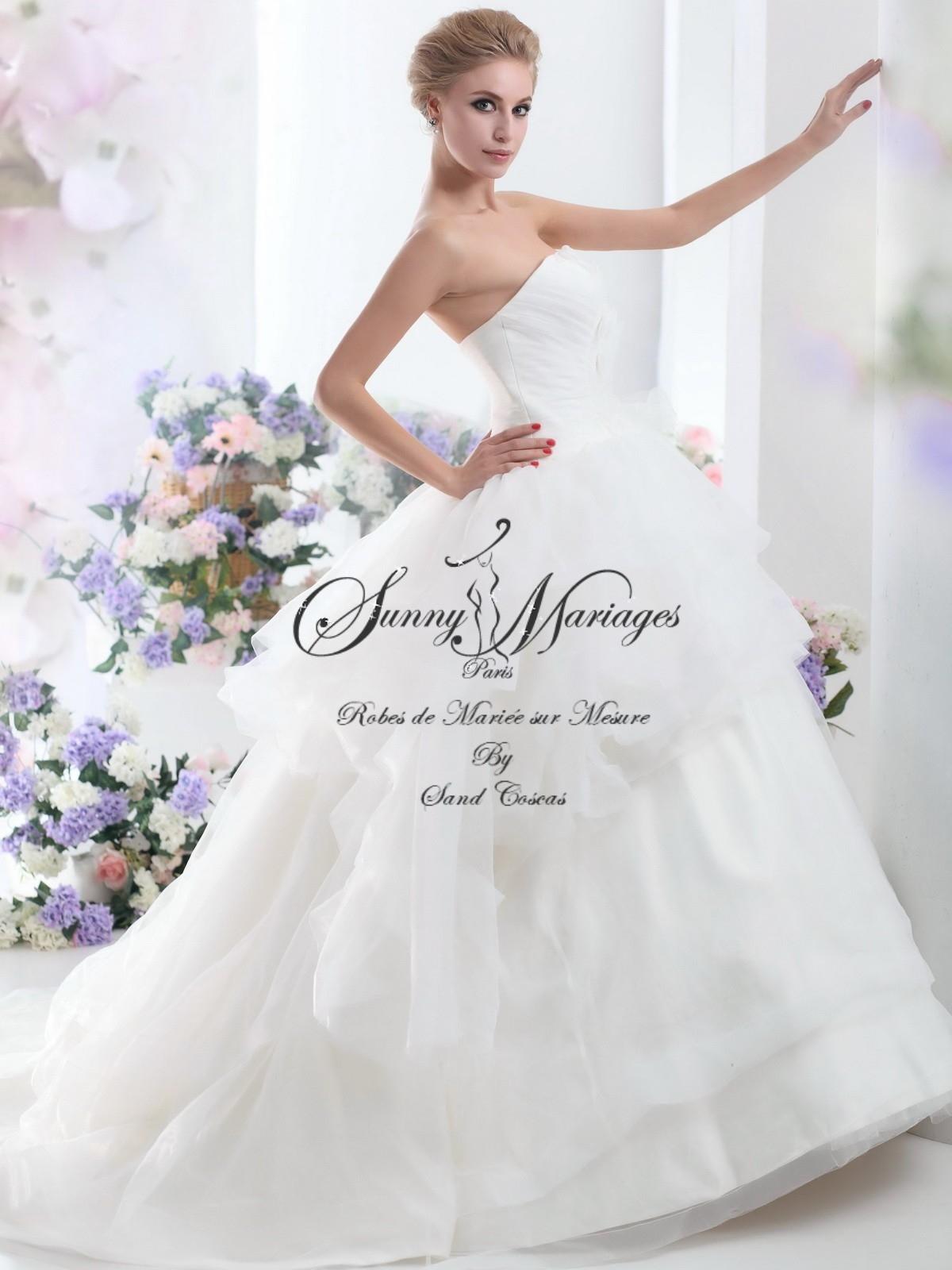 robe de mari e princesse en tulle avec bustier sunny mariage. Black Bedroom Furniture Sets. Home Design Ideas