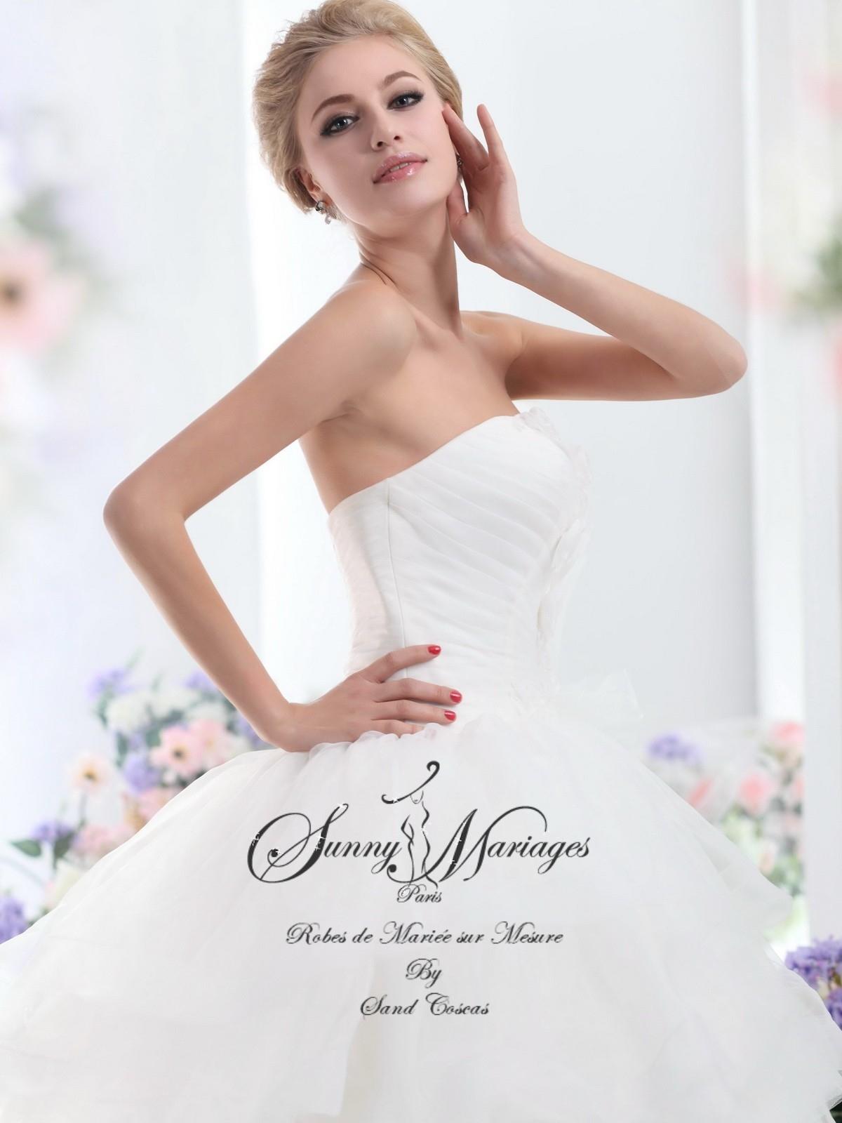 Robe de mari e princesse en tulle avec bustier sunny mariage for Nous robes de mariage en ligne
