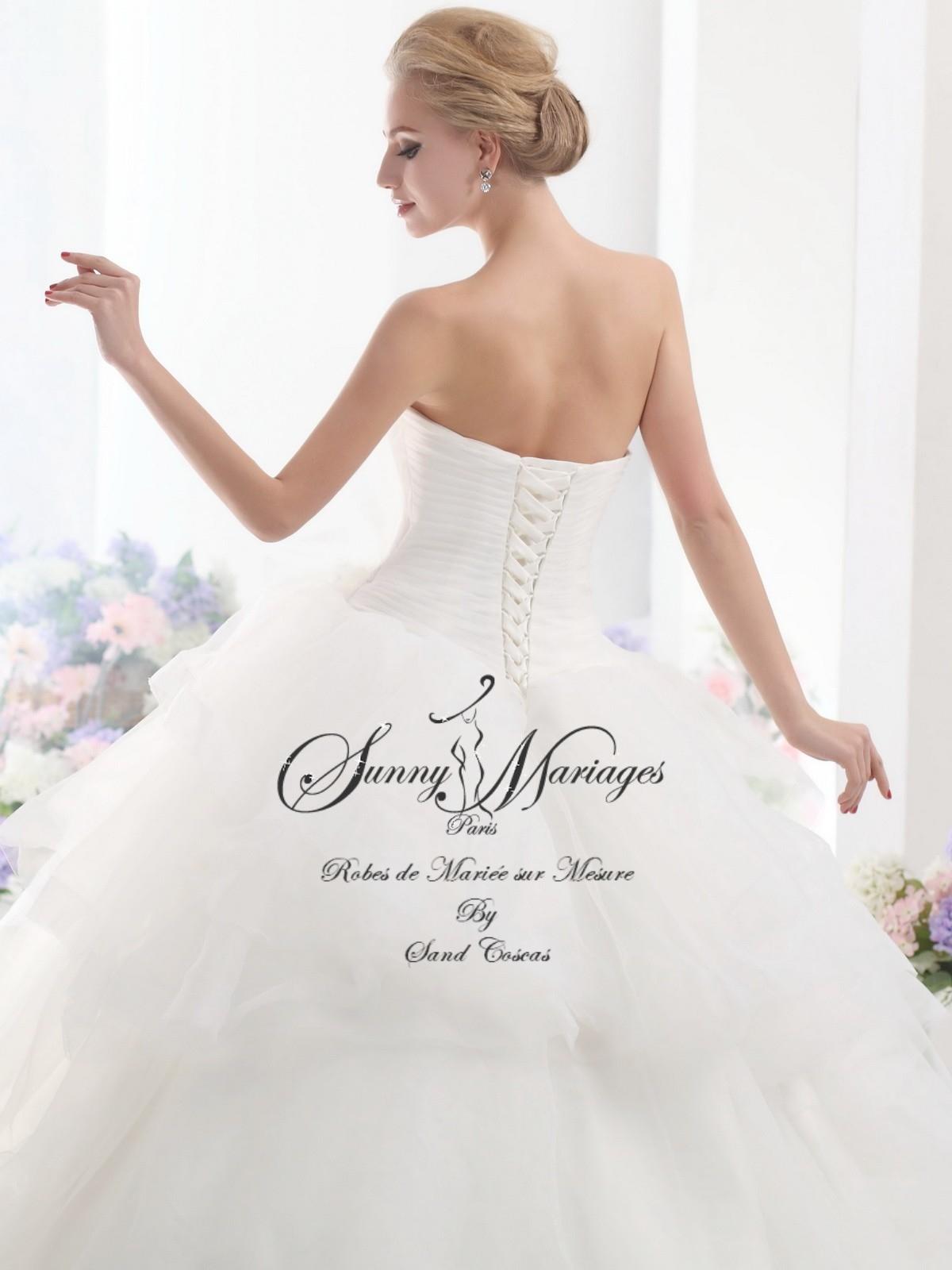 robes de mariee princesse bustier lacage au dos Sunny Mariage Paris ...
