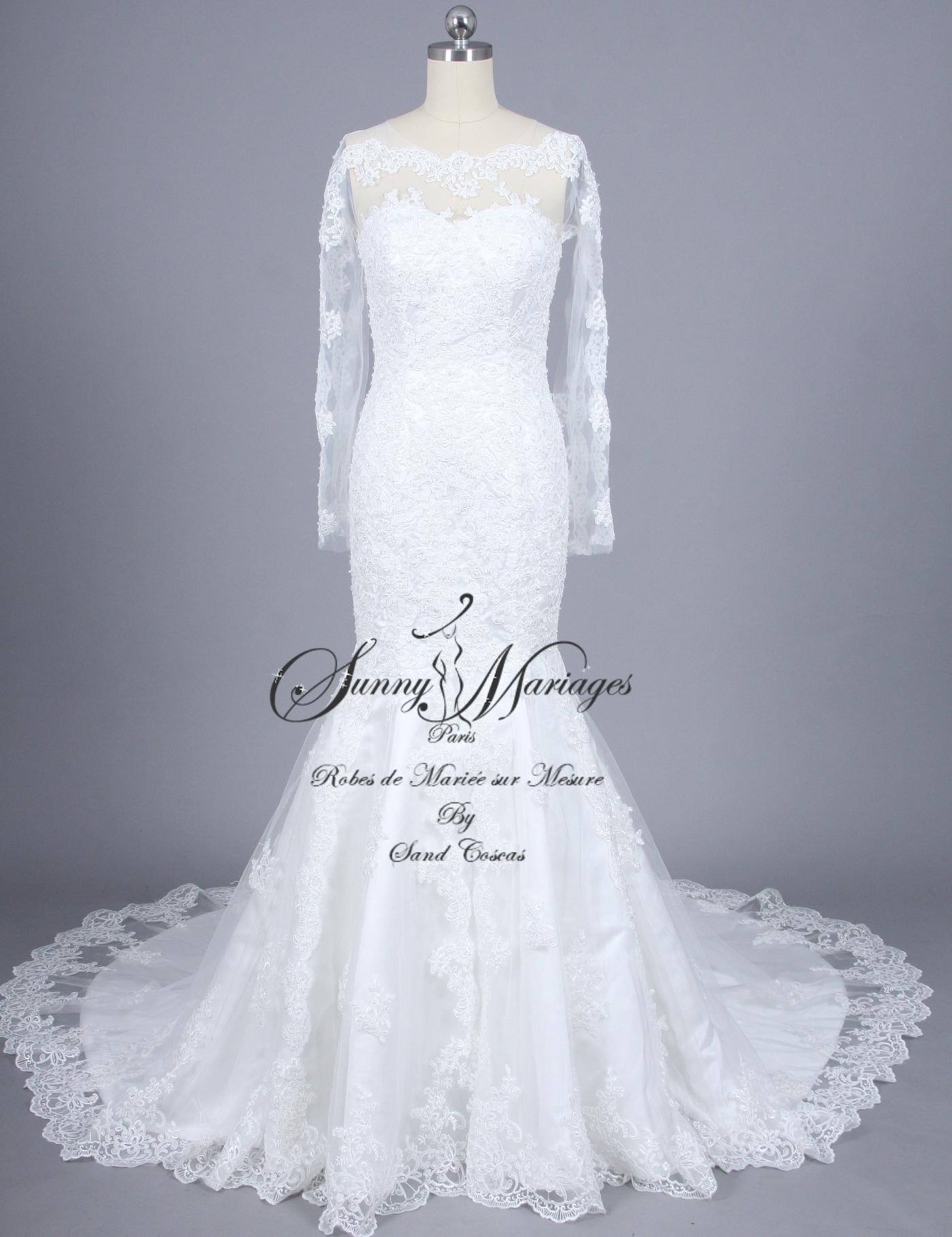 Robe de mari e dentelle manche longue sirene id es et d 39 inspiration sur le mariage - Robe de mariee sirene dentelle manche longue ...