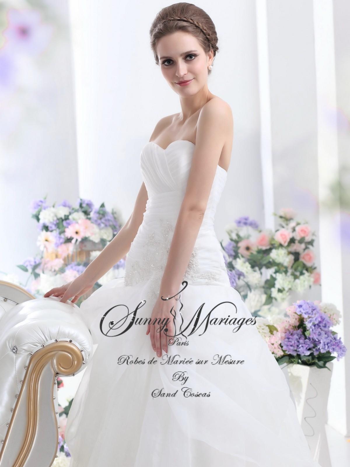 Robe de mari e dentelle robe de mari e bustier sunny for Sangles de dentelle de robe de mariage