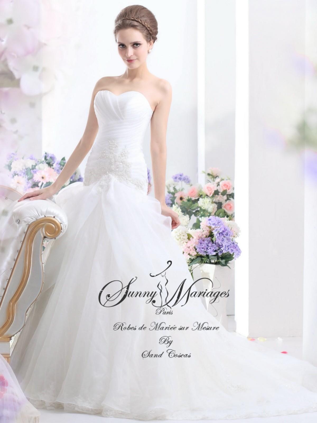 robe de mari e pas cher paris en perles de satin hss2300. Black Bedroom Furniture Sets. Home Design Ideas