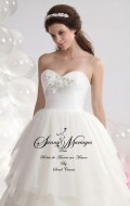 robe de mariée-bustier-tulle