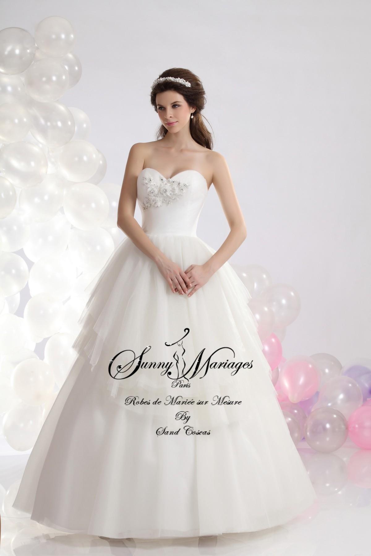 robe de marie bustier simple paula - Mariage Simple A La Mairie .