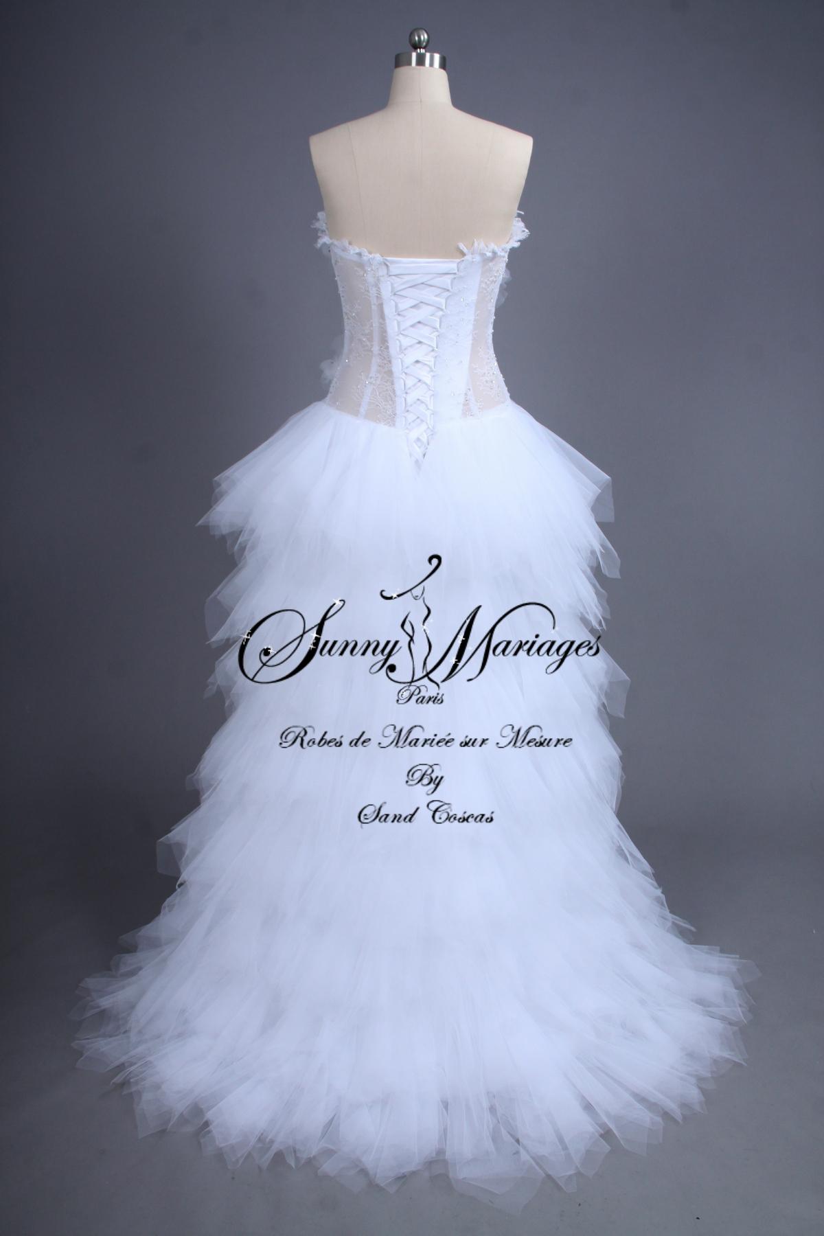 robe de mariée , originale , bustier