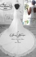 robe de mariée dentelle fourreau