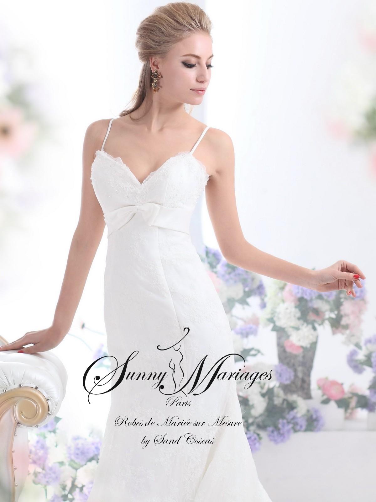 robe de mariée dentelle, robe de mariée avec bretelle