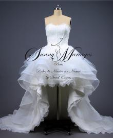 robe de mariée courte devant et longue drrière