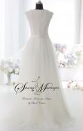robe de mariée fluide, robe de mariée manche