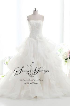 robe de mariée bustier, robe de mariée, robe de mariée princesse