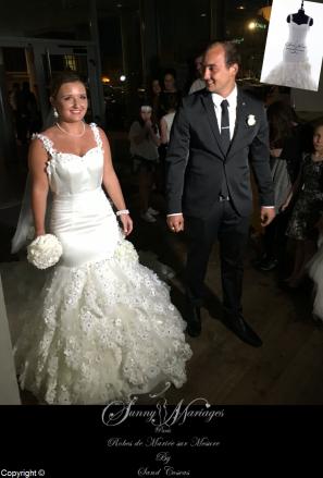 robe de mariée princesse fourreau sur mesure