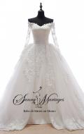 robe de mariée princesse manche longue