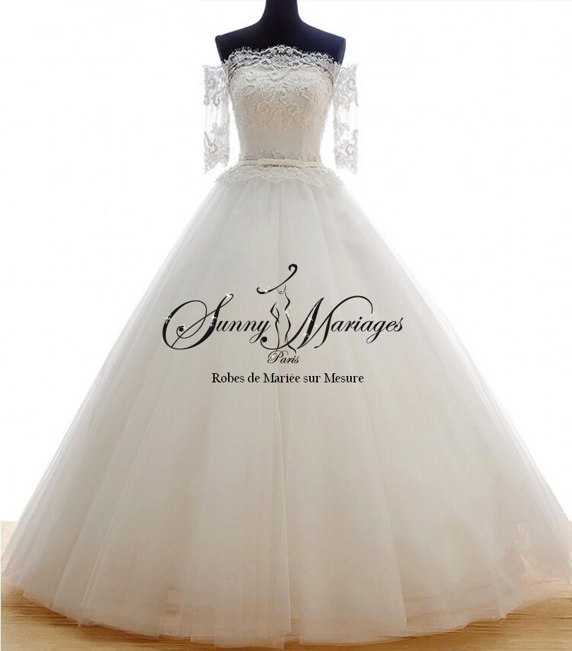robe de mari e princesse bustier dentelle sunny mariage. Black Bedroom Furniture Sets. Home Design Ideas