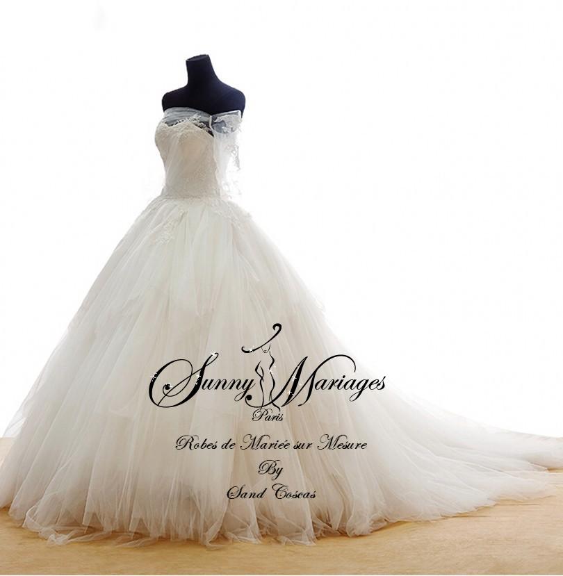 Robe de mari e princesse manches longues sunny mariage for Don de robe de mariage michigan