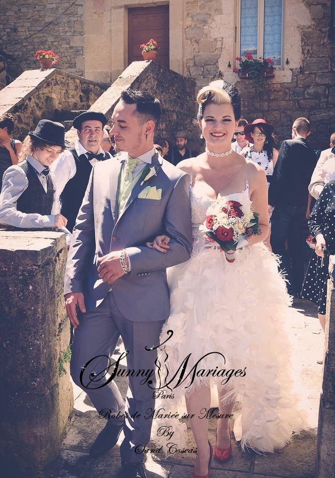 Robe de mari e courte devant longue derriere sunny mariage for Loue robe de mariage utah