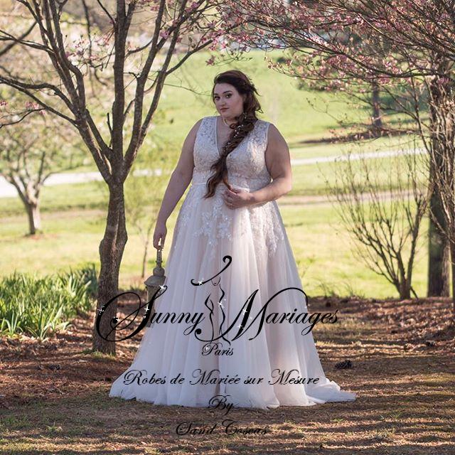 Robe de mariée grandes tailles femmes rondes