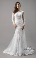 robe de mariée sirene fourreau dentelle