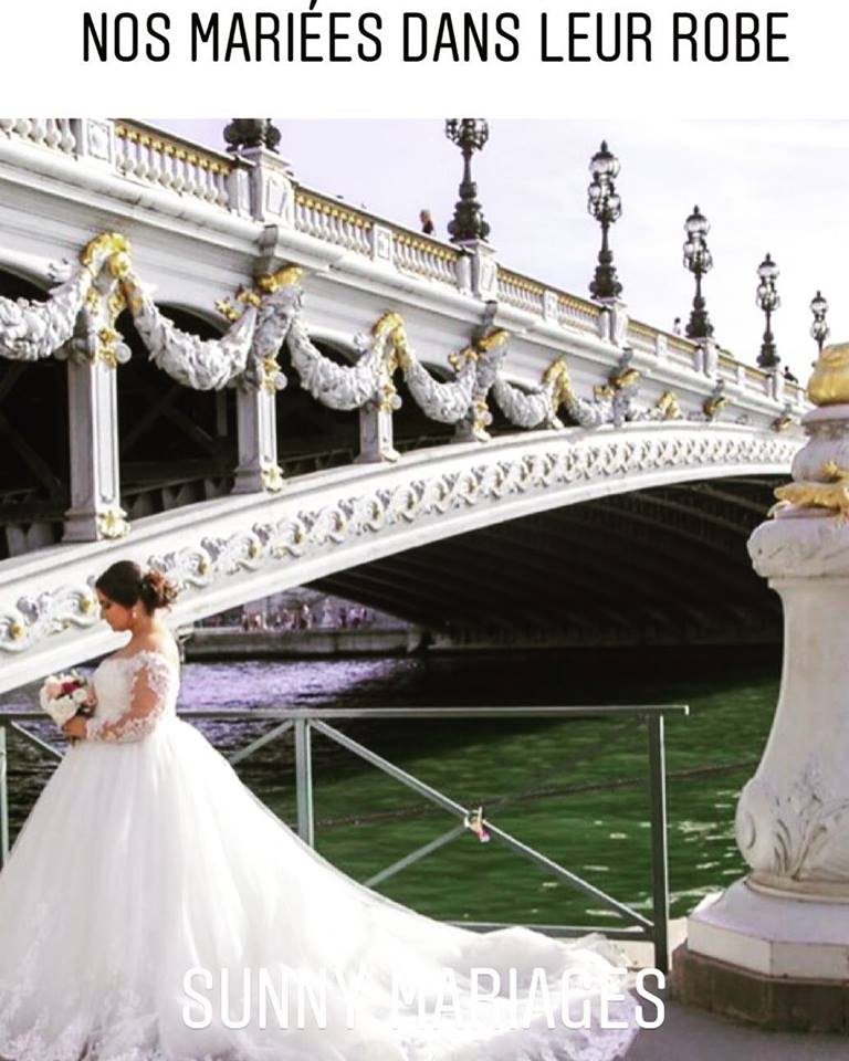 Robe De Mariee Longue Traine Cathedrale Sunny Mariage