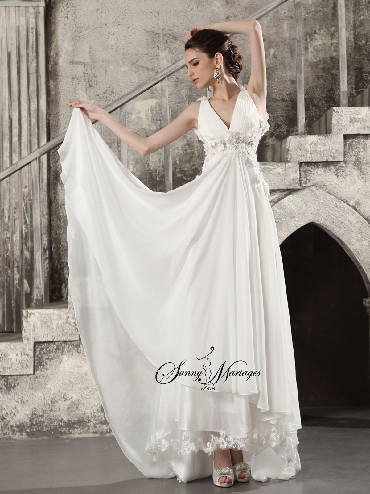 bas prix 68696 4ee96 Robe de mariee empire boheme chic   Sunny Mariage