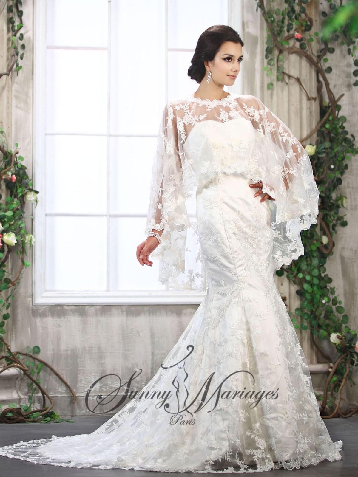 Robe de mari e dentelle sur mesure et pas cher sunny for Robes en dentelle pour mariage