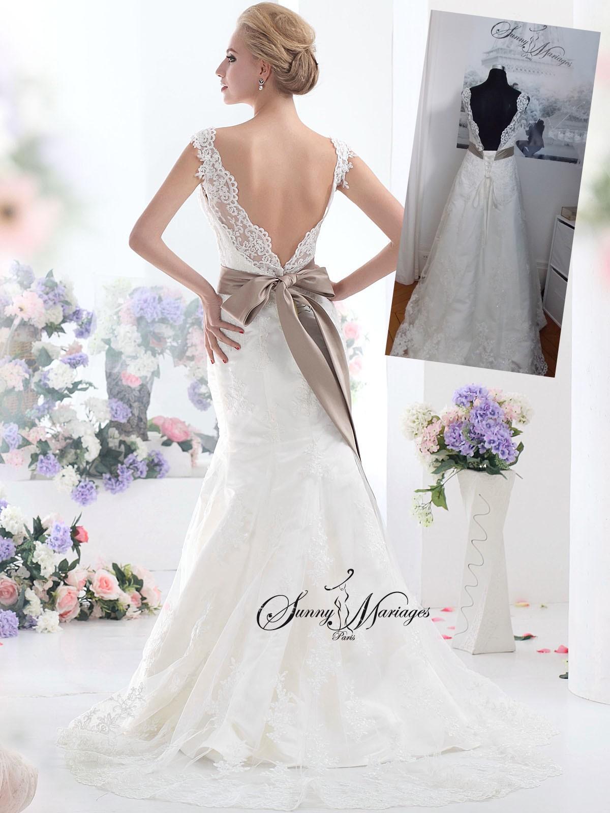 robe de mariee en dentelle forme sirène en