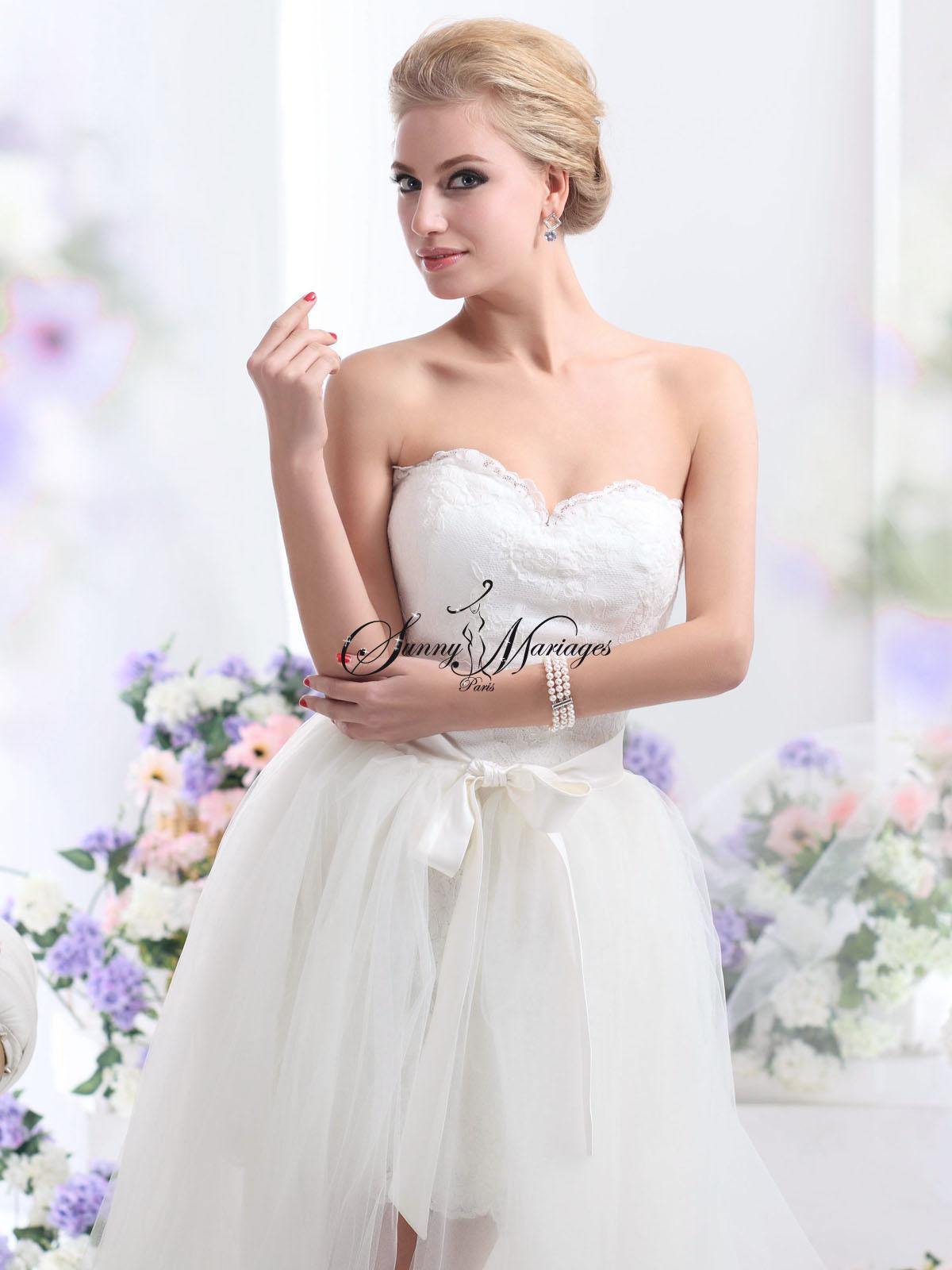 robe de mariee boheme chic et deux en un une jupe longue. Black Bedroom Furniture Sets. Home Design Ideas