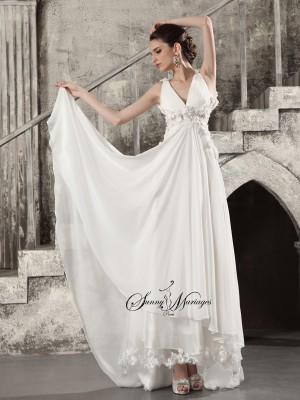 Robe De Mariee Empire Fluide En Mousseline Style Boheme Chic
