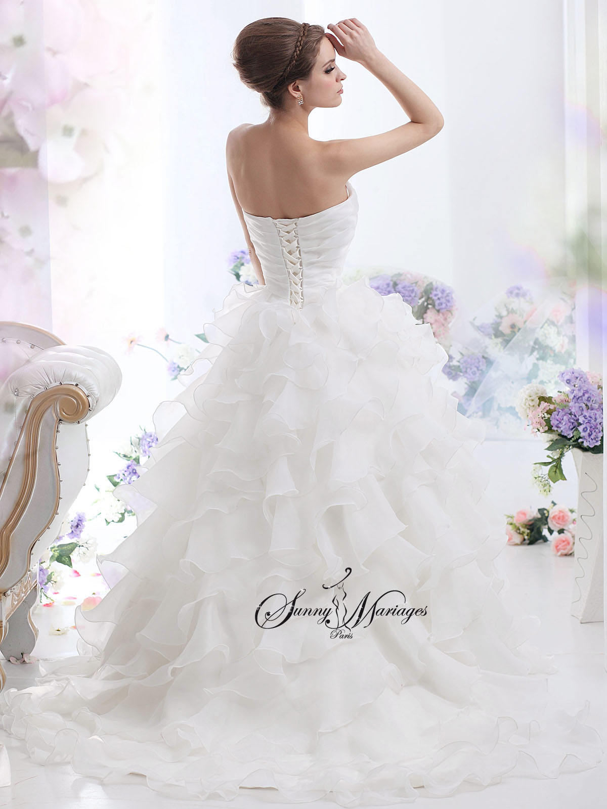 robe de mari e princesse bustier sunny mariage. Black Bedroom Furniture Sets. Home Design Ideas