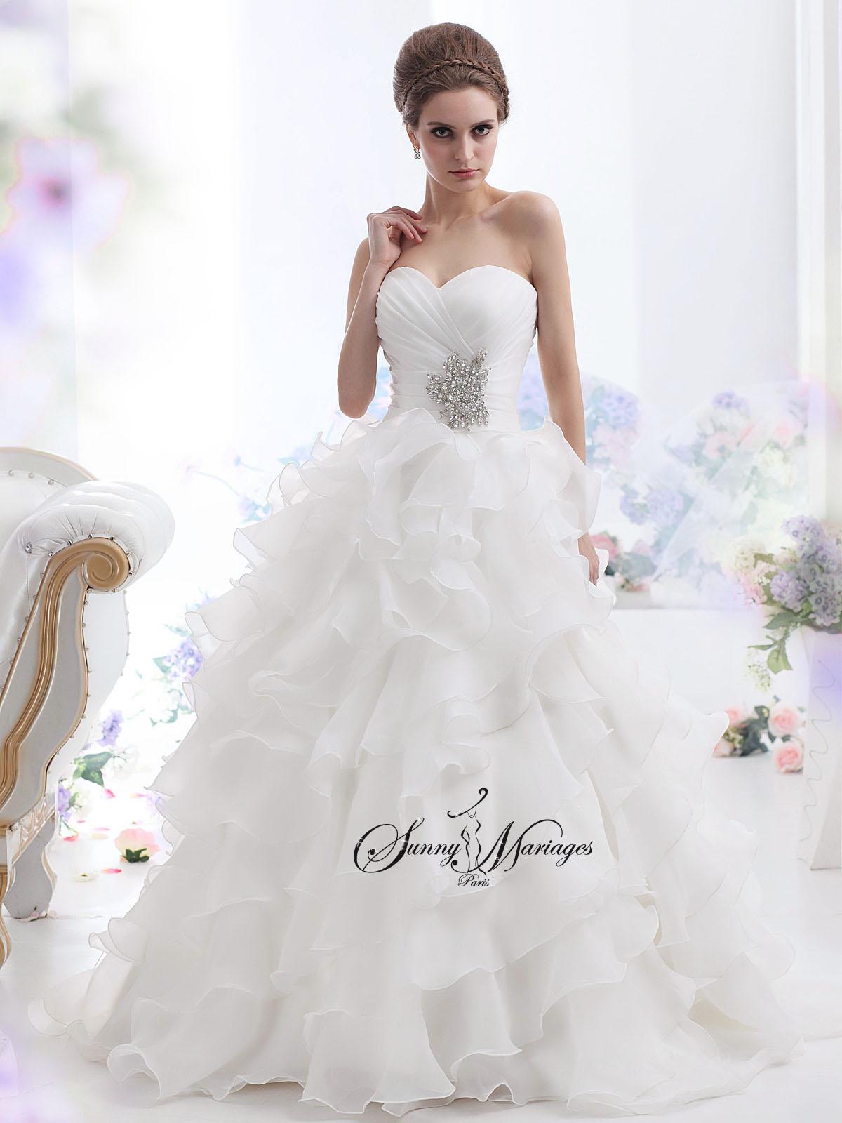 Robe de mari e princesse bustier sunny mariage for Meilleurs sites de robes de mariage en ligne