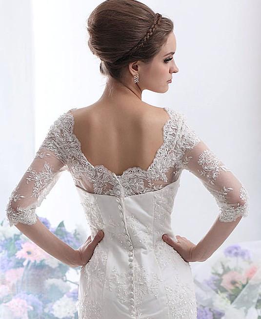 robe de mariee dentelle manche blanche ivoire ou naturelle sunny mariage. Black Bedroom Furniture Sets. Home Design Ideas