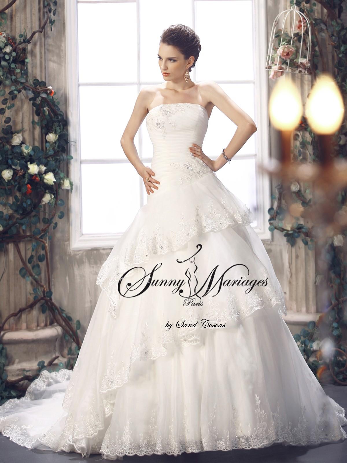robe de mariee dentelle forme princesse en
