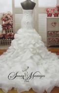 obe de mariee fourreau sirène, robe de mariee bustier drapé, robe de mariee princesse, robe de mariee froufrou (2)