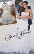 robe de mariage bustier drappé forme sirene qui met en valeur votre silhouette, et jupe en froufrou avec une grande traine ou sans traine , robe de mariee pas cher vendue en ligne ou en rendez vous