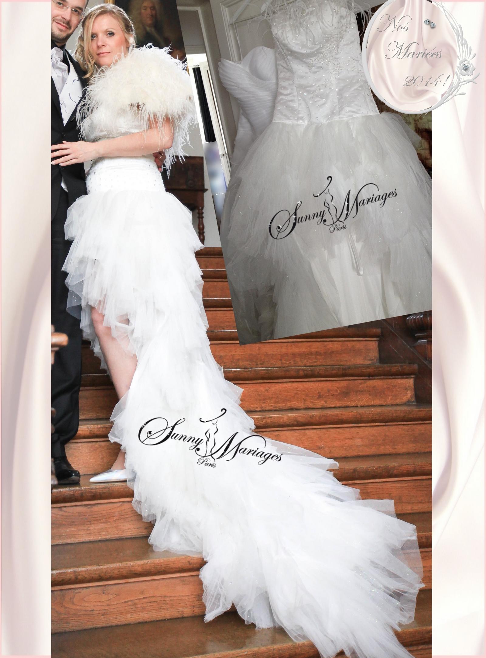 Robe mariee avec plumes