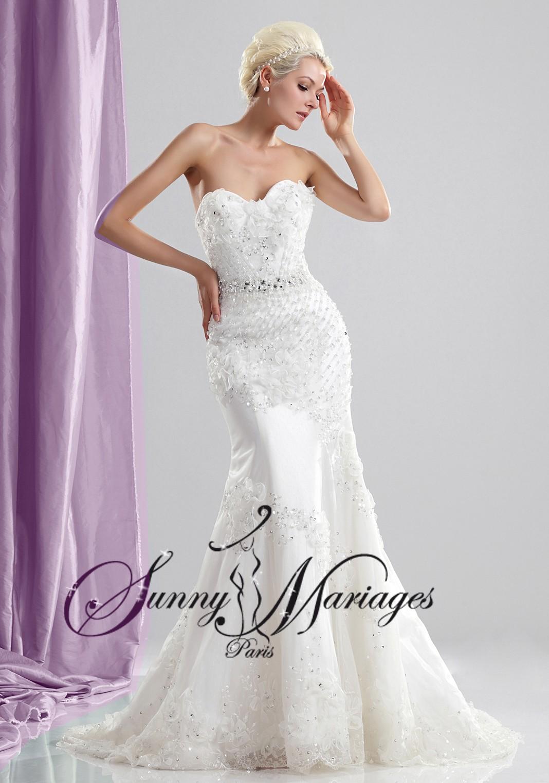 robes de mariage sirene bustier coeur en ligne et pas chere sunny mariage. Black Bedroom Furniture Sets. Home Design Ideas