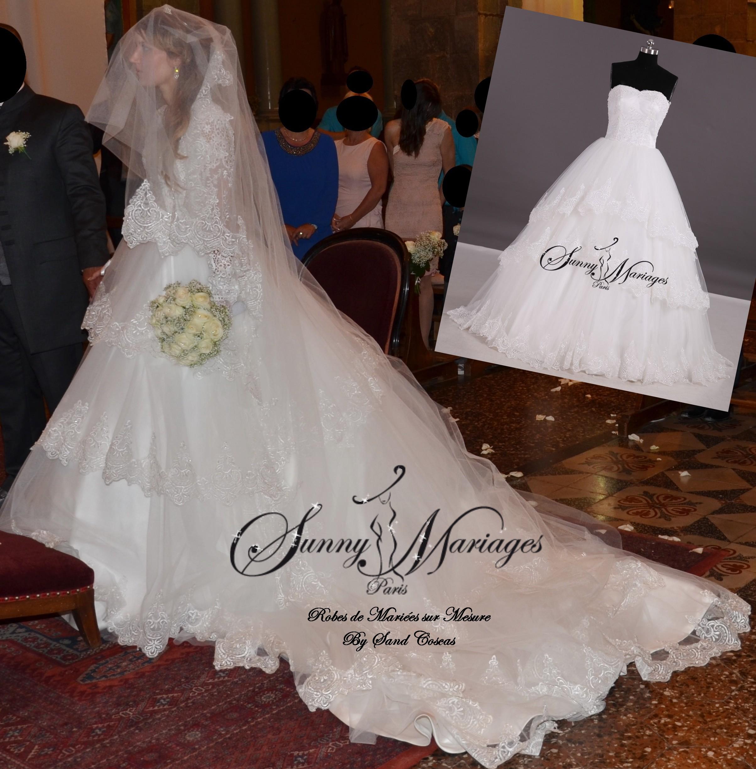 Voile de robe de mariee
