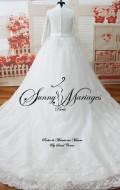robe de mariee princesse femme voilée