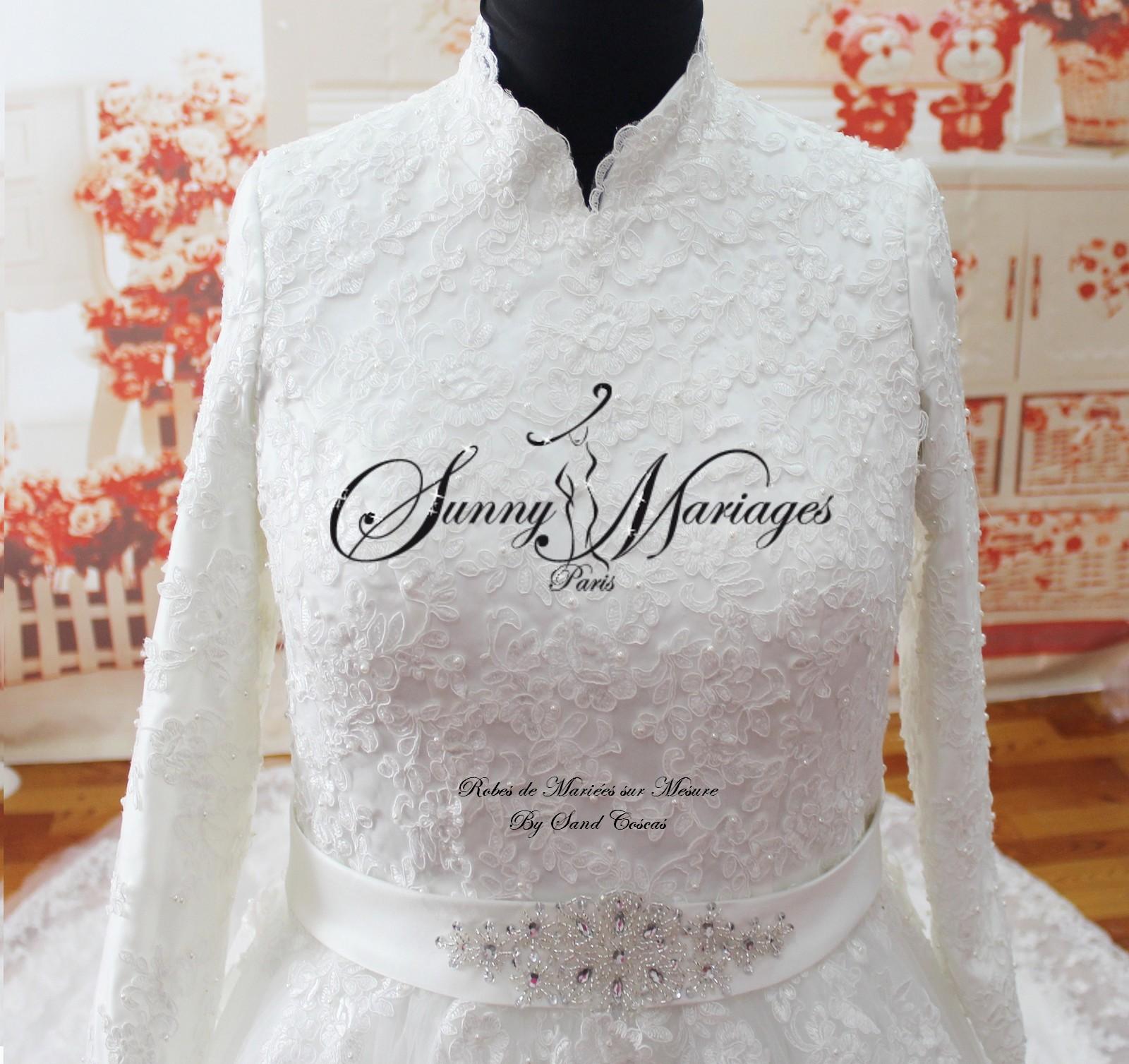 Robe de mariee pour femme voilee pas cher