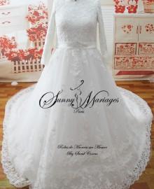 robe de mariée femme voilée
