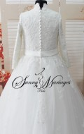 robe de mariee princesse manche longue