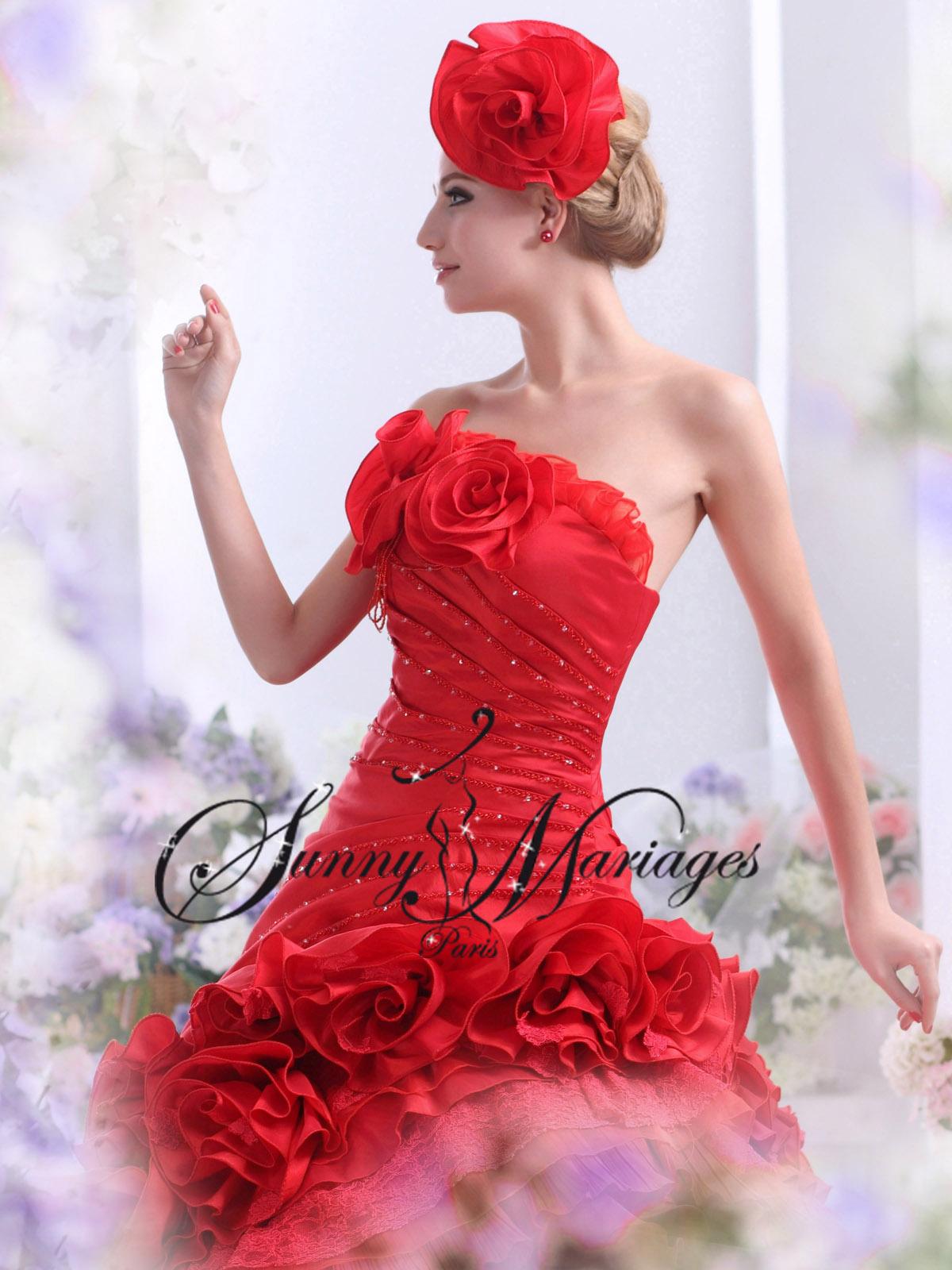 robes de mari u00e9e couleur rouge noir ivoire blanche sur