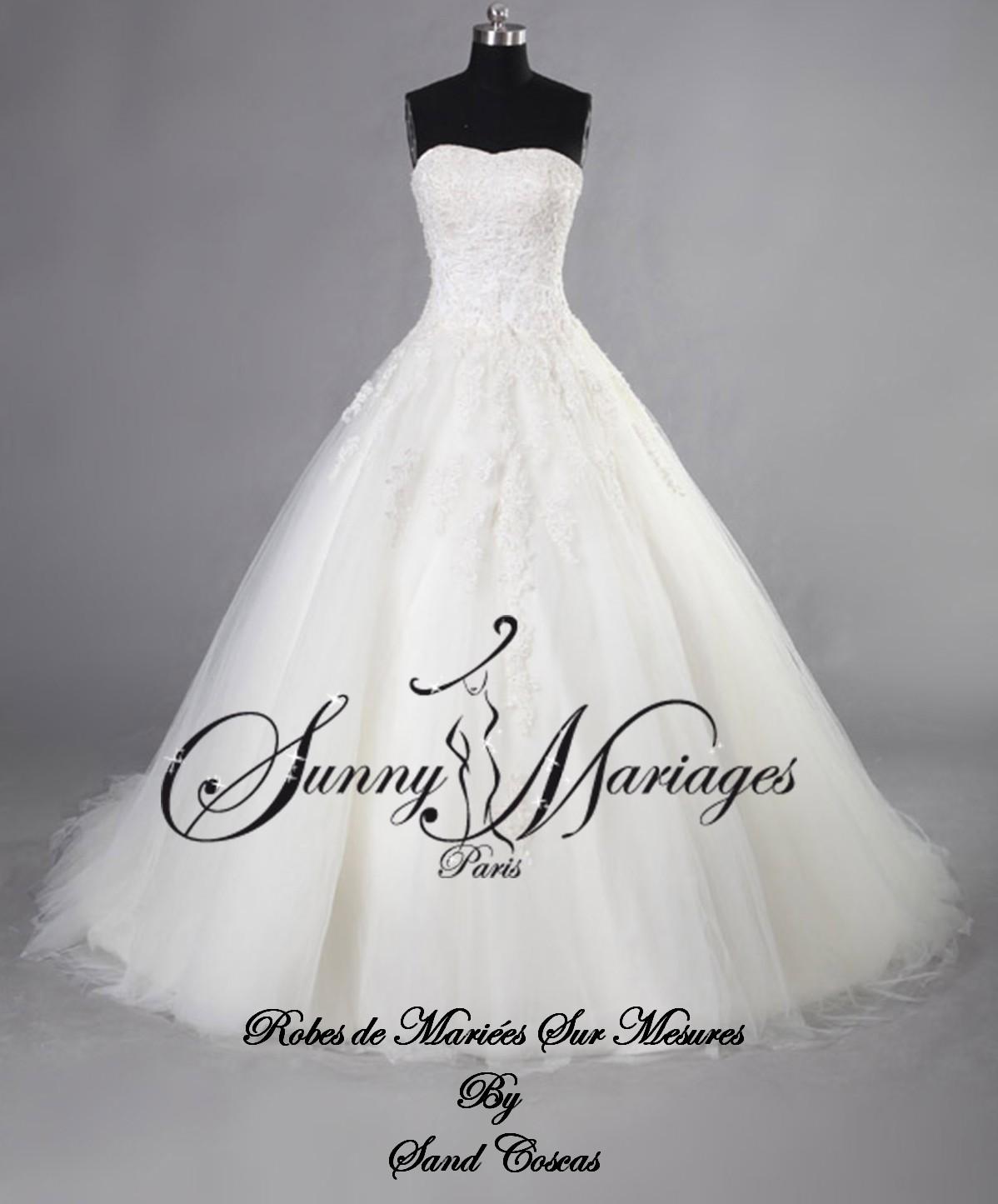 Et En Mariage Perles Jupe Tullesunny Bustier De Robes