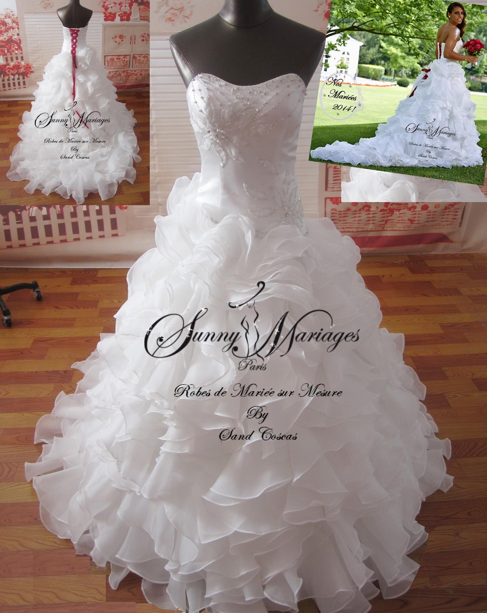 robe de mariee bustier jupe froufrou mariage jessica houara sunny mariage. Black Bedroom Furniture Sets. Home Design Ideas