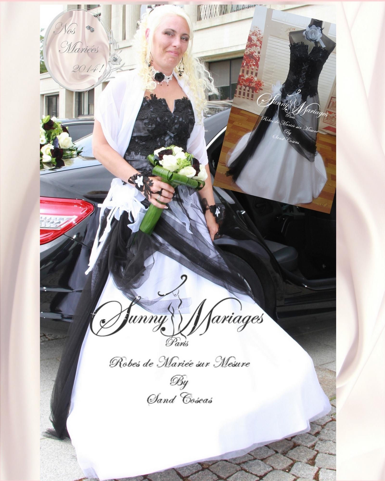 robe de mari e bustier couleur noire et blanche sunny. Black Bedroom Furniture Sets. Home Design Ideas
