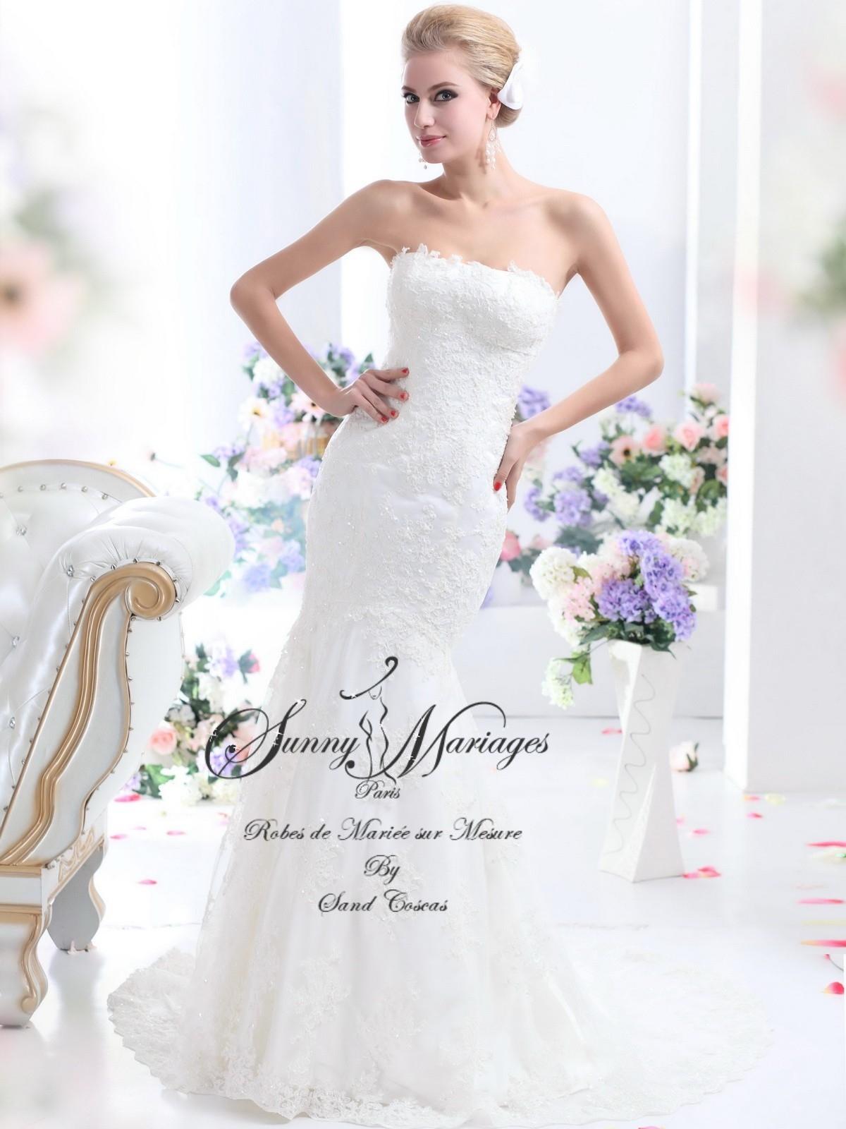 ... Robes de mariée dentelle « Célestine » coupe sirène ou fourreau