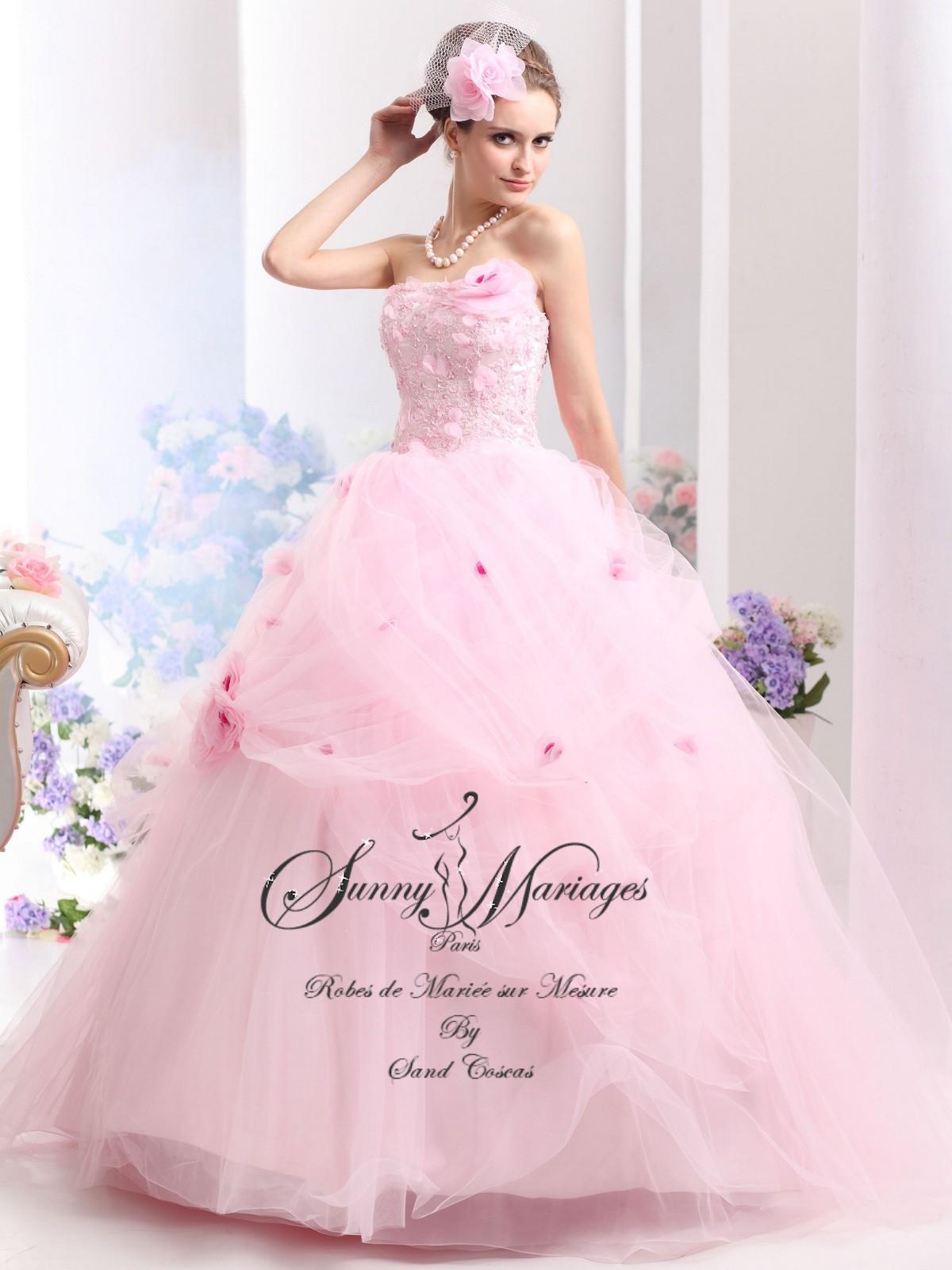 Robe De Mariée Princesse Couleur Rose Sunny Mariage