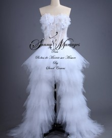 robe de mariée bustier - tulle